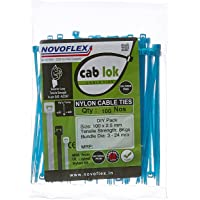 Novoflex 100mm Cable Ties, Blue, Pack of 100