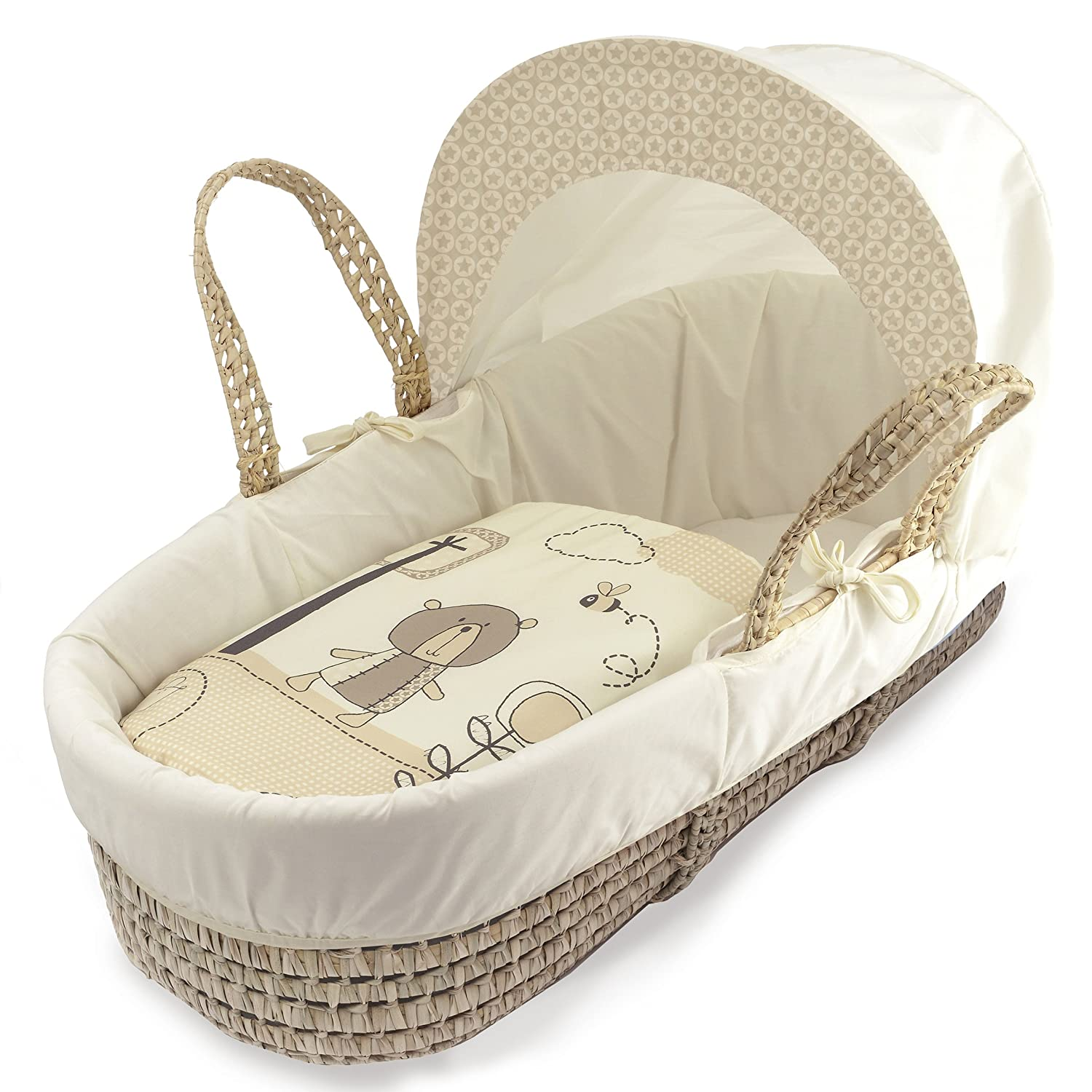 Beary Nice Cream Moses Basket Dressings only(Basket not included) Elegant Baby