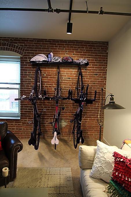 b73015ab7b7 Amazon.com: VeloGrip Urban Modern Storage 3-Bike Rack - 3 Loft Black ...