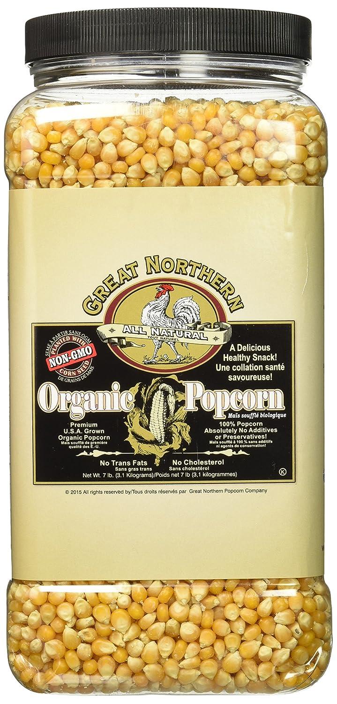 GREAT NORTHERN POPCORN Organic 7 Pound Jug