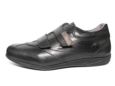 Schuhe Mann mit Klettverschluss - erhältlich in den Farben schwarz und braun Leder - 8486 - 75 und 30 N, Braun - braun - Größe: 45 Fluchos