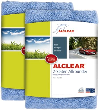 ALCLEAR 820203U_2 Ultra-Microfiber Cloth Double-face All-Rounder for car Cleaning and
