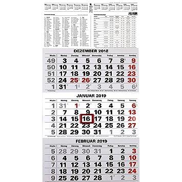 3 Monatskalender 2019 Burokalender Wandplaner 45x23 5cm Mit