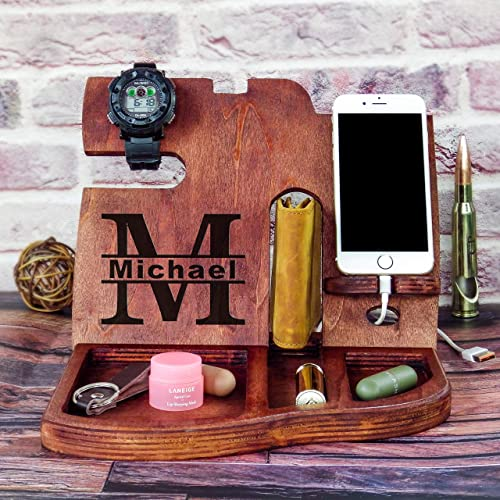 Amazon Com Anniversary Gift Personalized Mens Gift Gifts For Dad Christmas Gifts For Husband Gift For Brother Gift For Husband Iphone 11 Docking Station 8s Docking Station Docking Device Docking Stations Wood Handmade