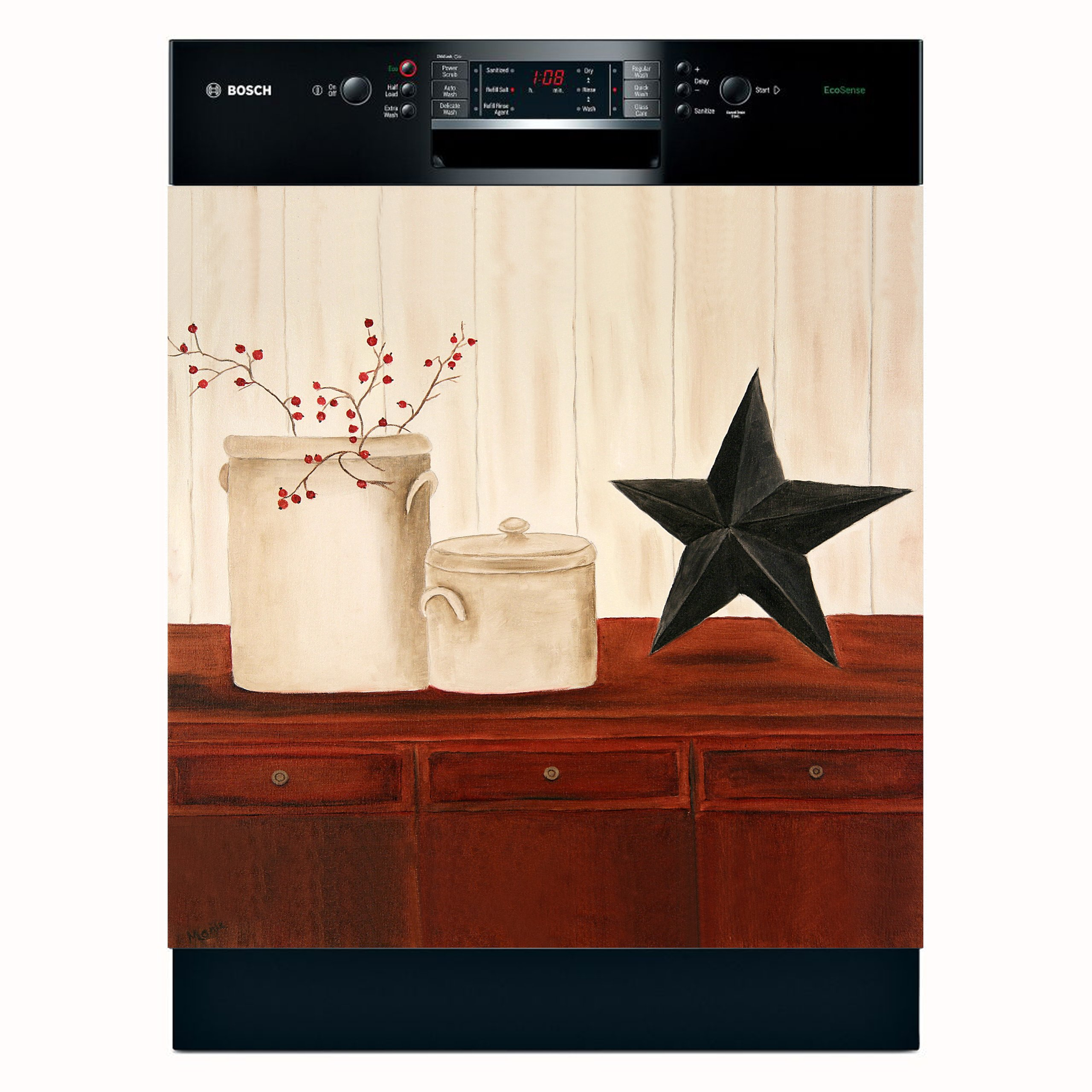 Crocks & Star Dishwasher Magnet Cover (Large) by Appliance Art