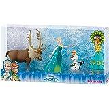 Bullyland 12084 - Walt Disney Frozen Fever, Spielfigurenset, Anna, Elsa, Olaf und Sven, bunt
