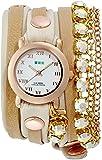 [ラ・メール コレクションズ]LA MER COLLECTIONS 腕時計 RAINBOW ST TROPEZ ホワイト文字盤 ラム革ベルト LMMULTI5002RAIN レディース 【正規輸入品】