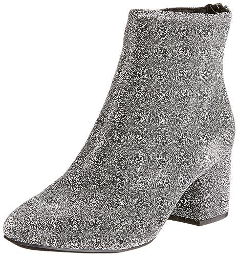 New Look Glitter Birdy, Botines para Mujer, Plateado (Gunmetal/Pewter 95), 36 EU: Amazon.es: Zapatos y complementos