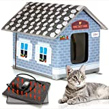 PETYELLA Heated cat Houses for Outdoor Cats in Winter - Heated Outdoor cat House Weatherproof - Outdoor Heated cat House…