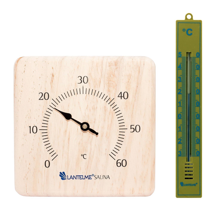 Lantelme 6351 Sauna Accessory Set Infrared Sauna and Bathroom Thermometer –  Sauna Accessory Set with Thermometer and Bath Thermometer Analogue