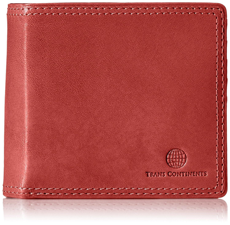 [トランスコンチネンツ] 二つ折り財布 イタリアレザー シリーズ TC311016 B01G0ZSLQI レッド レッド