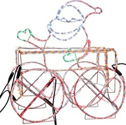 Amazon werchristmas 3d silhouettes werchristmas led animated connectable santa in train carriage 3d rope light silhouette 74 cm aloadofball Images