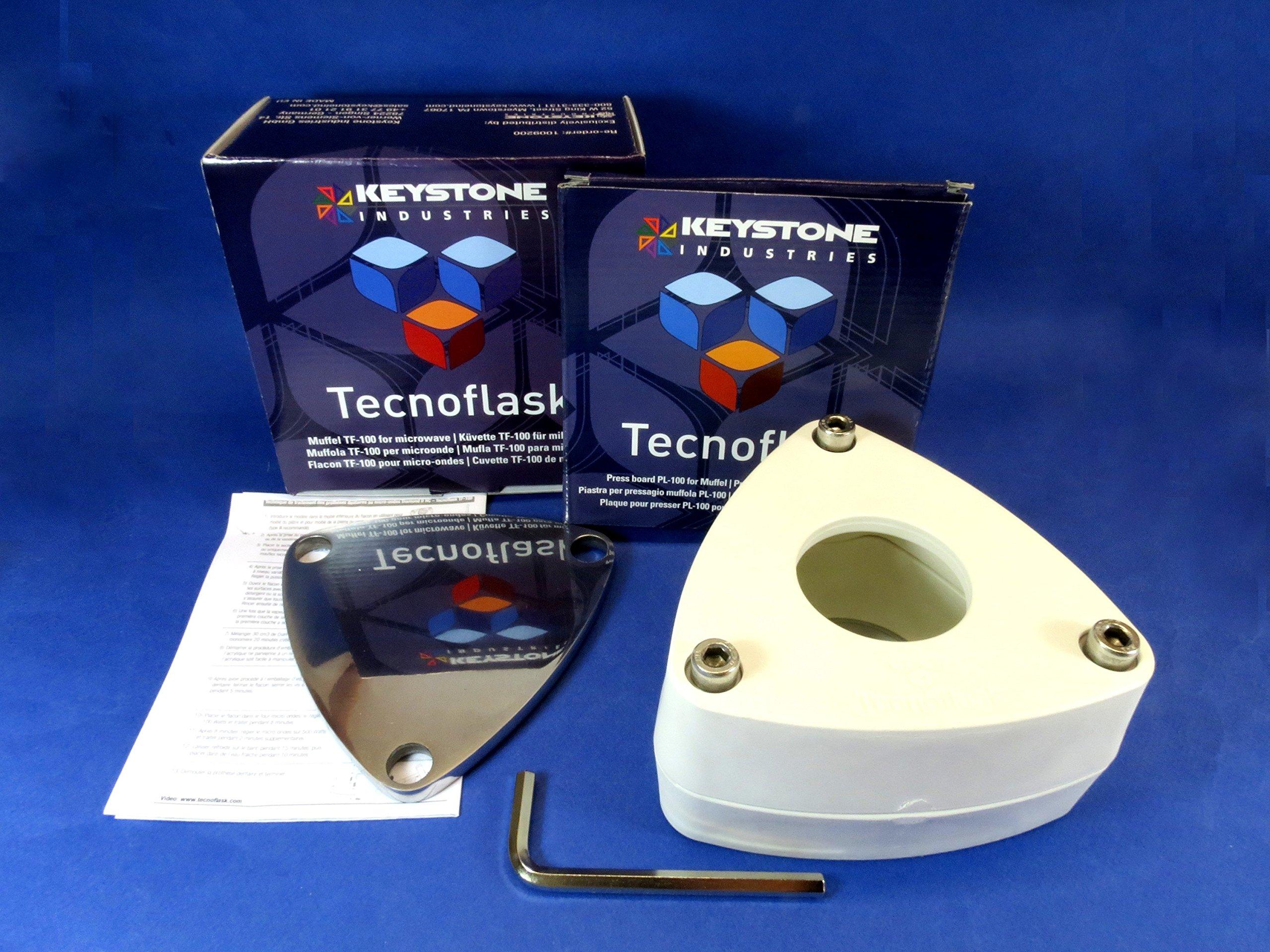 New Dental Lab Microwave Flask Tecnoflask Muffle And Plate Laboratory Microwavable Mufla Microondas