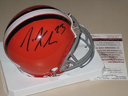 Image Unavailable. Image not available for. Color  Joe Haden Autographed  Cleveland Browns Mini Helmet JSA ... 507d5a169
