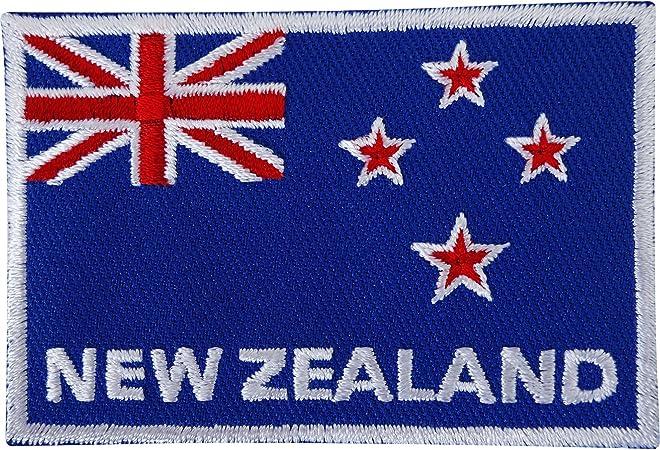 Nueva Zelanda bandera bordado de hierro/parche para coser de Rugby camiseta de manga corta bordado insignia: Amazon.es: Hogar
