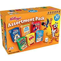 30-Count Kelloggs Breakfast Cereal Assortment Pack Single Serve Boxes and Rice Krispies