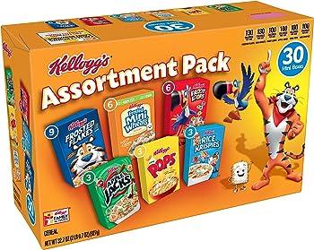 30-Count Kelloggs Breakfast Cereal Assortment Pack