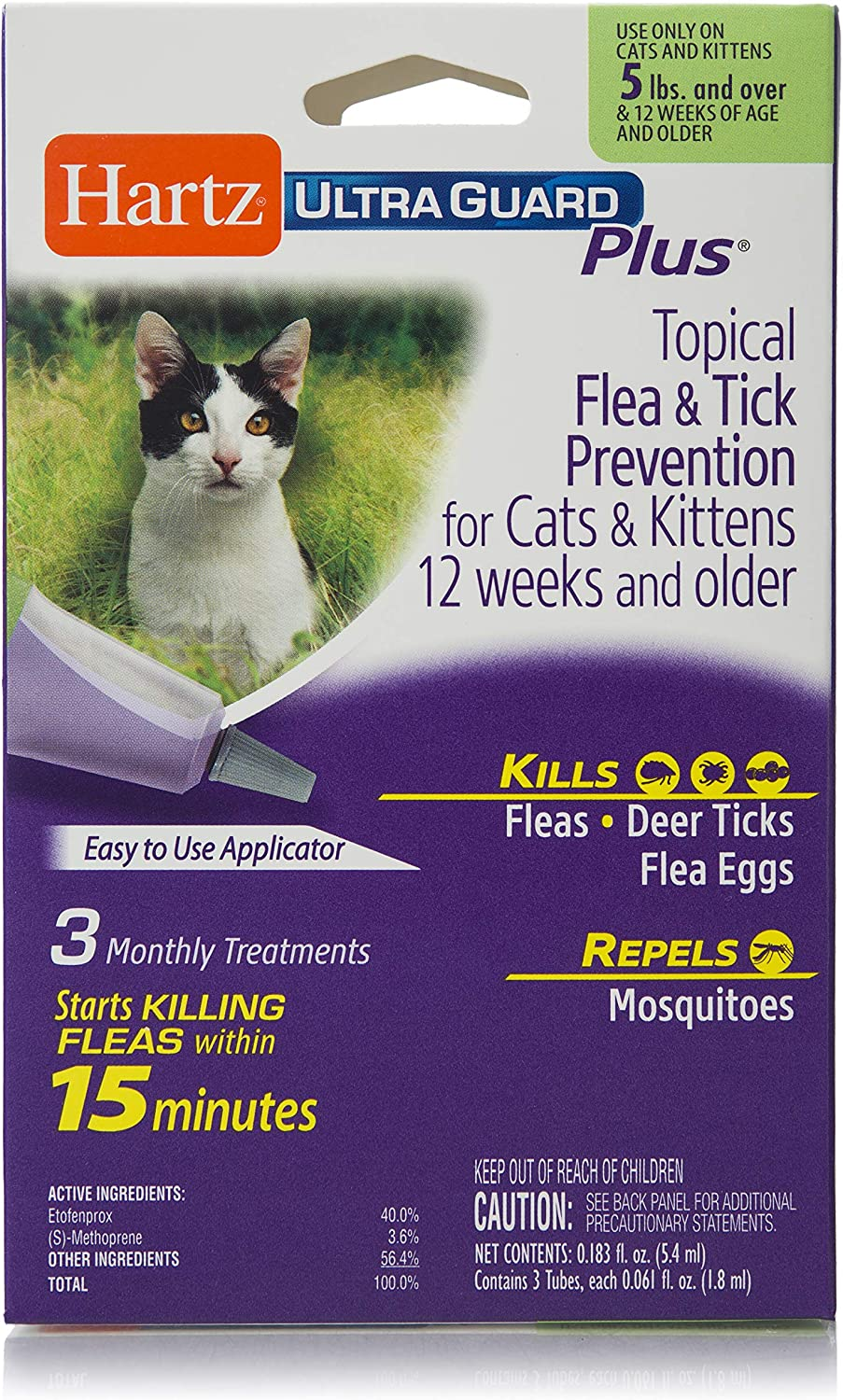 Purple FiproGuard 6-Month Cats Ovr 8 Weeks