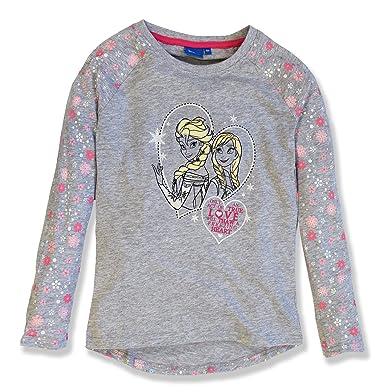 8d976d94e Frozen Girls Top - Long Sleeve Top - Cotton - Elsa and Anna Print - Kids