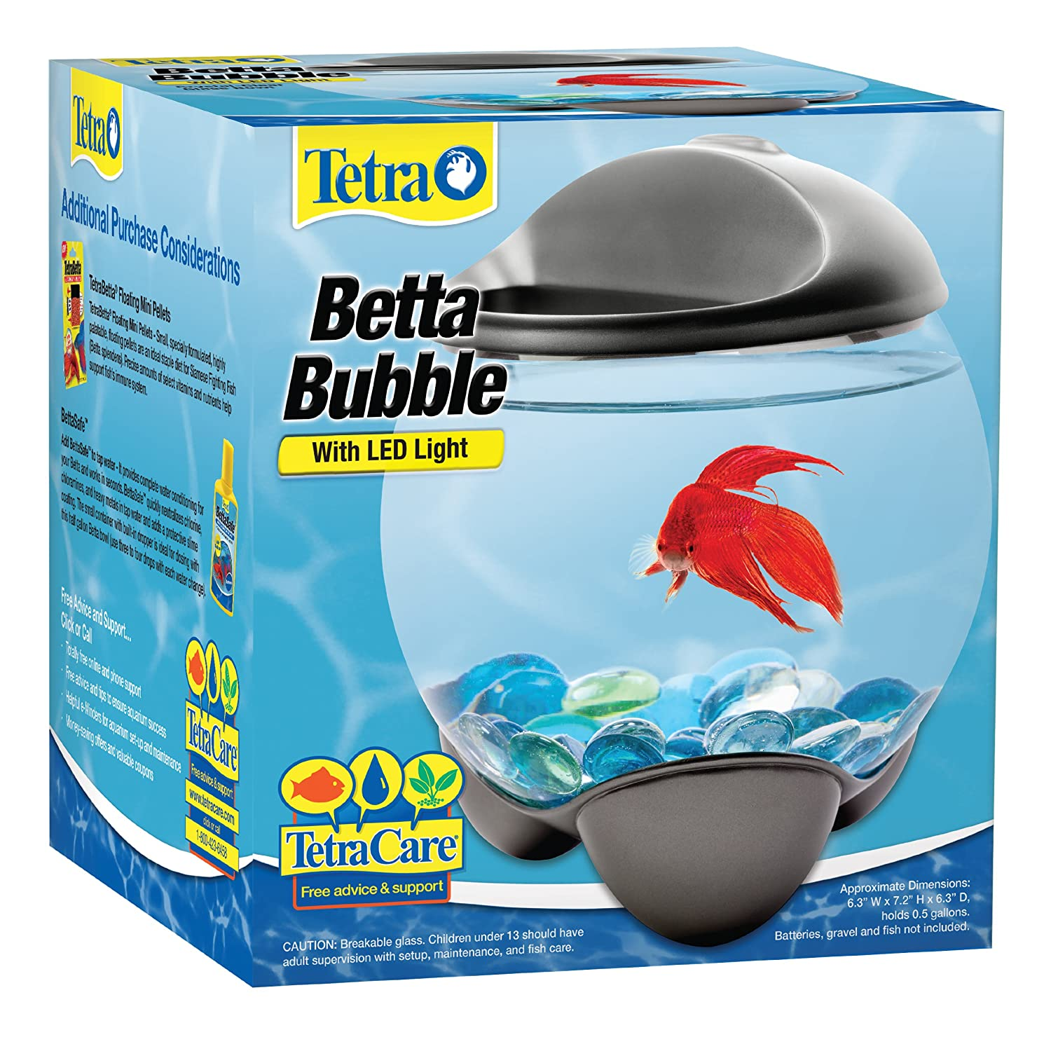 91PTh9nR6pL._SL1500_ amazon com tetra 29263 betta bubble betta bowl with led light  at crackthecode.co