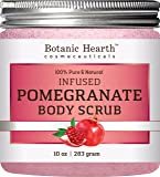 Botanic Hearth Super Pomegranate Infused Body Scrub, Packed with Antioxidant for Radiant Youthful Looking Skin, 10 oz