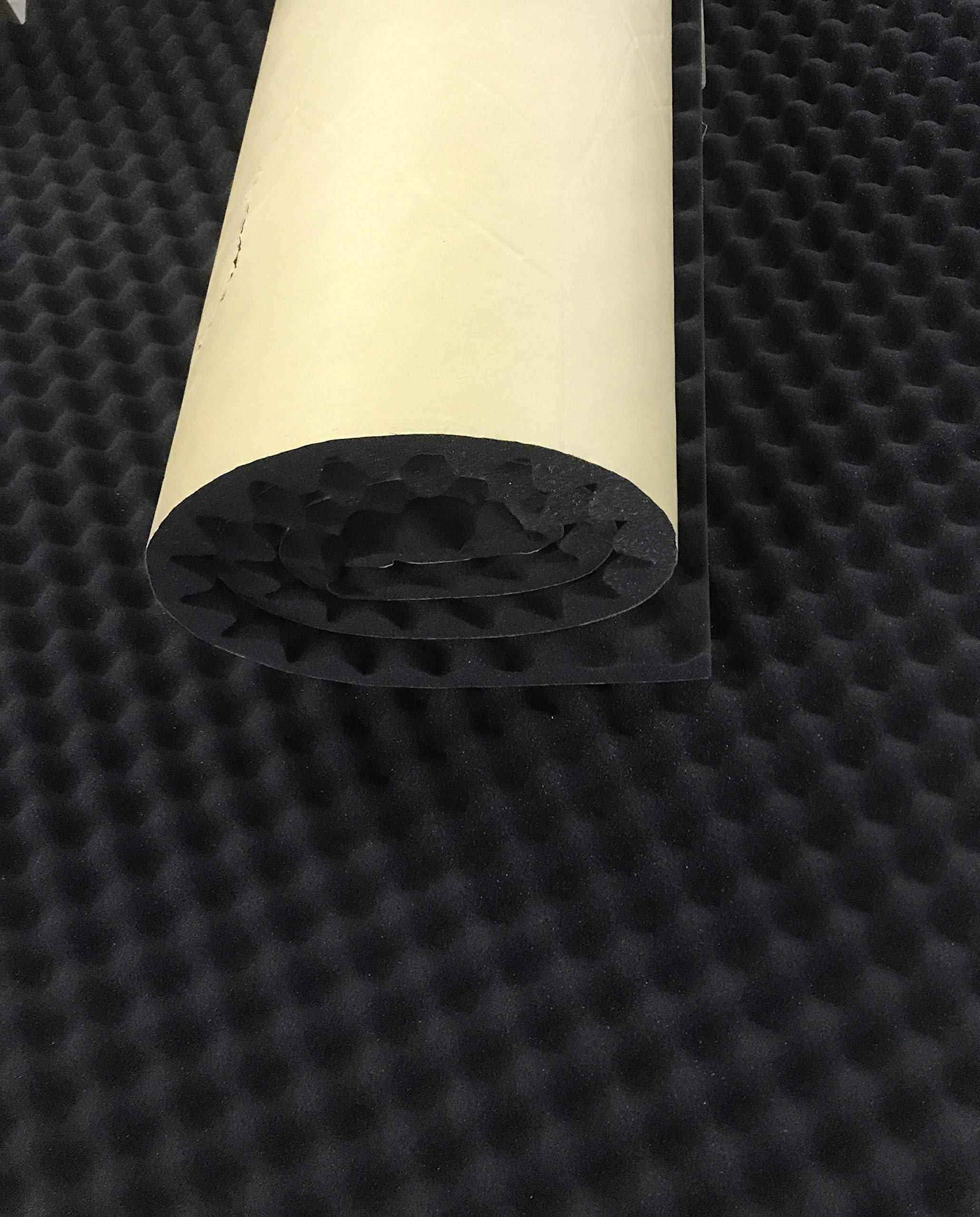 BookishBunny Self Adhesive Acoustic Foam Egg Crate Panel Studio Foam Wall Panel (40'' x 80'') by Bookishbunny (Image #2)