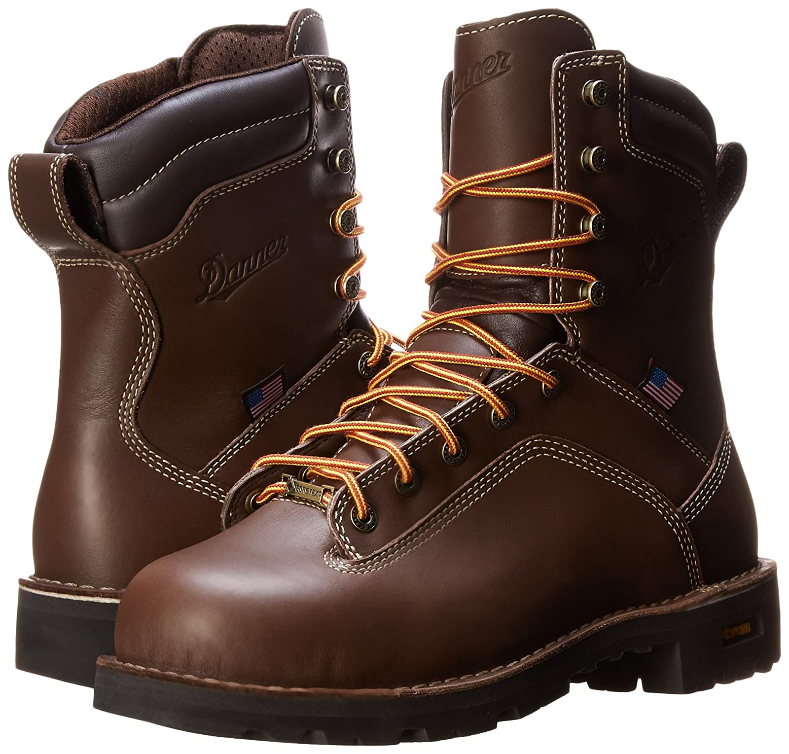 b823a82afad Danner Men's Quarry USA 8-Inch BR AT Work Boot,Brown,12 D US