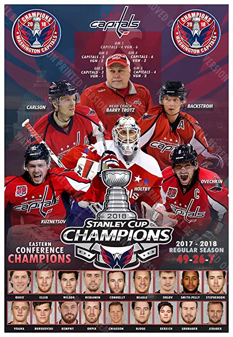 Image Unavailable. Image not available for. Color  PosterWarehouse2017  WASHINGTON CAPITALS 2018 STANLEY CUP CHAMPIONS COMMEMORATIVE POSTER 6d55ea259