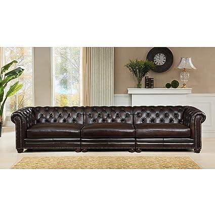 Fabulous Amazon Com Hydeline Kennedy 100 Leather 3 Piece Sofa Set Inzonedesignstudio Interior Chair Design Inzonedesignstudiocom