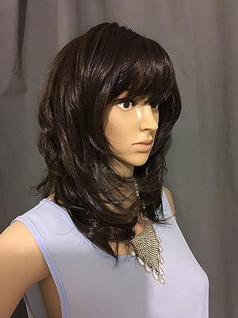 Amazon.com   WIGSTIDE Fancy Medium Capless Wavy Sepia True Synthetic Wigs  14 Inch (14 Inches c3c88d9cef8c