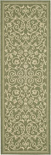 Safavieh Courtyard Collection CY2098-1E06 Olive and Natural Indoor Outdoor Area Rug 2 x 3 7