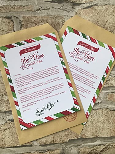 Personalised Elf On Shelf Arrival And Goodbye Letters