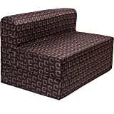 uberlyfe 3 Seater Sofa Cum Bed - Perfect for Guests - Poly Cotton Fabric Washable Cover -Dark Brown| 5' X 6' Feet.(SCB-001727-DKBR)