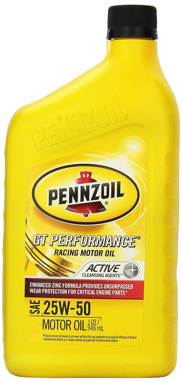 Pennzoil 3623 25 W-50 GT rendimiento Racing Motor Oil - 1 Quart: Amazon.es: Coche y moto