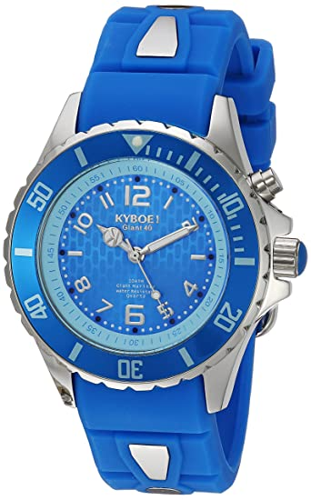 KYBOE! 'Power' Quartz Stainless Steel and Silicone Casual Watch, Color:Blue (Model: KY.40-035.15) Watches at amazon