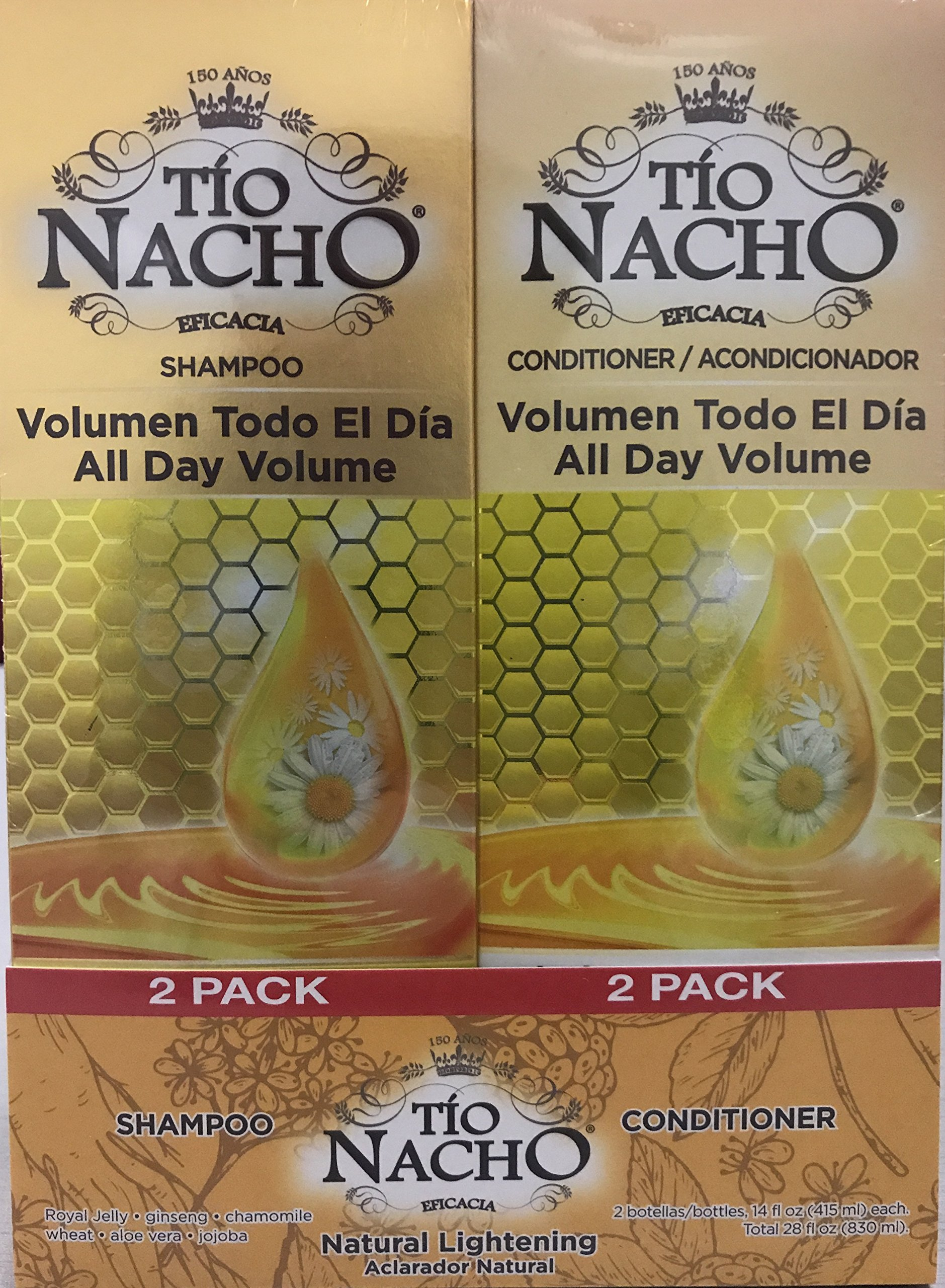 TIO NACHO Natural Lightening Shampoo and Conditioner, Twin Pack (2 Pack, 14 fl. oz. Each) by Tio Nacho