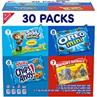 Nabisco Team Favorites Variety Pack, OREO Mini, CHIPS AHOY! Mini, Teddy Grahams Honey & Barnum's Animal Crackers, 30…