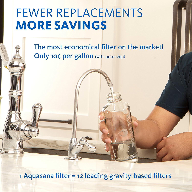 Amazon.com: Aquasana AQ-5200R 2-Stage Under Sink Genuine Replacement ...