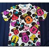 ミニーマウス フェイス柄 Tシャツ 【L】 ホワイト 【東京ディズニーリゾート限定】