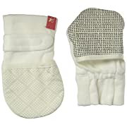 Goumikids Unisex Baby Diamond Dots Mitts -Cream-0-3 Months