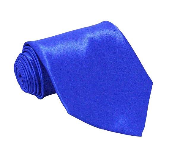 c0629918bb89 Soophen NEW Mens Necktie SOLID Satin Neck Tie Royal Blue at Amazon ...
