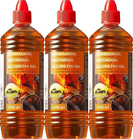 Gel encendedor de parrilla Chimenea Cigarrillos para todo tipo de carbón – Quemar 1000 ml –