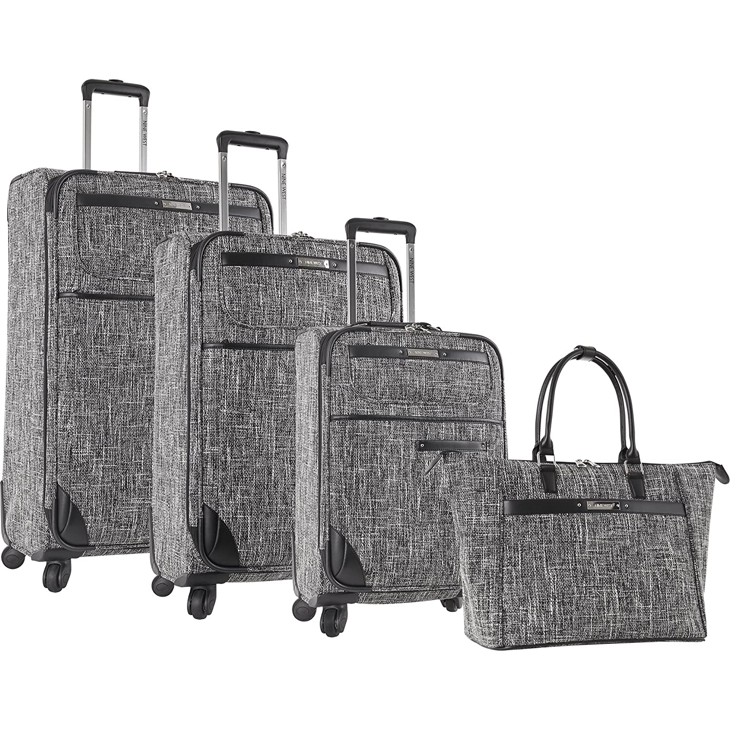 Nine West Nine West Voyajour 4 Piece Luggage Set - Juego de Maletas Adulto Unisex, Negro/Blanco (Negro) - 2543P02: Amazon.es: Equipaje