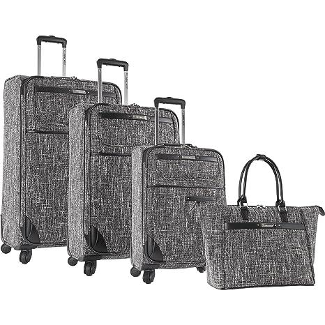 Nine West Nine West Voyajour 4 Piece Luggage Set - Juego de Maletas Adulto Unisex, Negro/Blanco (Negro) - 2543P02: Amazon.es: Equipaje