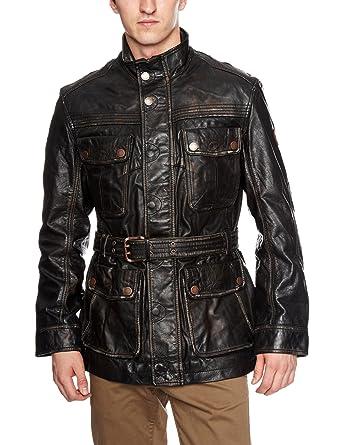 448f8f165d8 Timberland Elite Abington Leather Field Men's Coat Black XX-Large ...