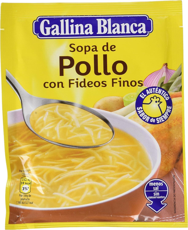 Gallina Blanca Sopa Deshidratada De Pollo Con Fideos Finos 71g Amazon Es Alimentación Y Bebidas