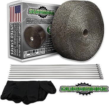 "Green Exhaust//Header Heat Wrap 2/"" x 50/' Roll With Stainless Steel Zip Ties"