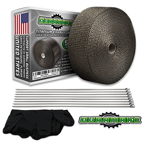 Duramake Titanium Exhaust Header Heat Shield Wrap