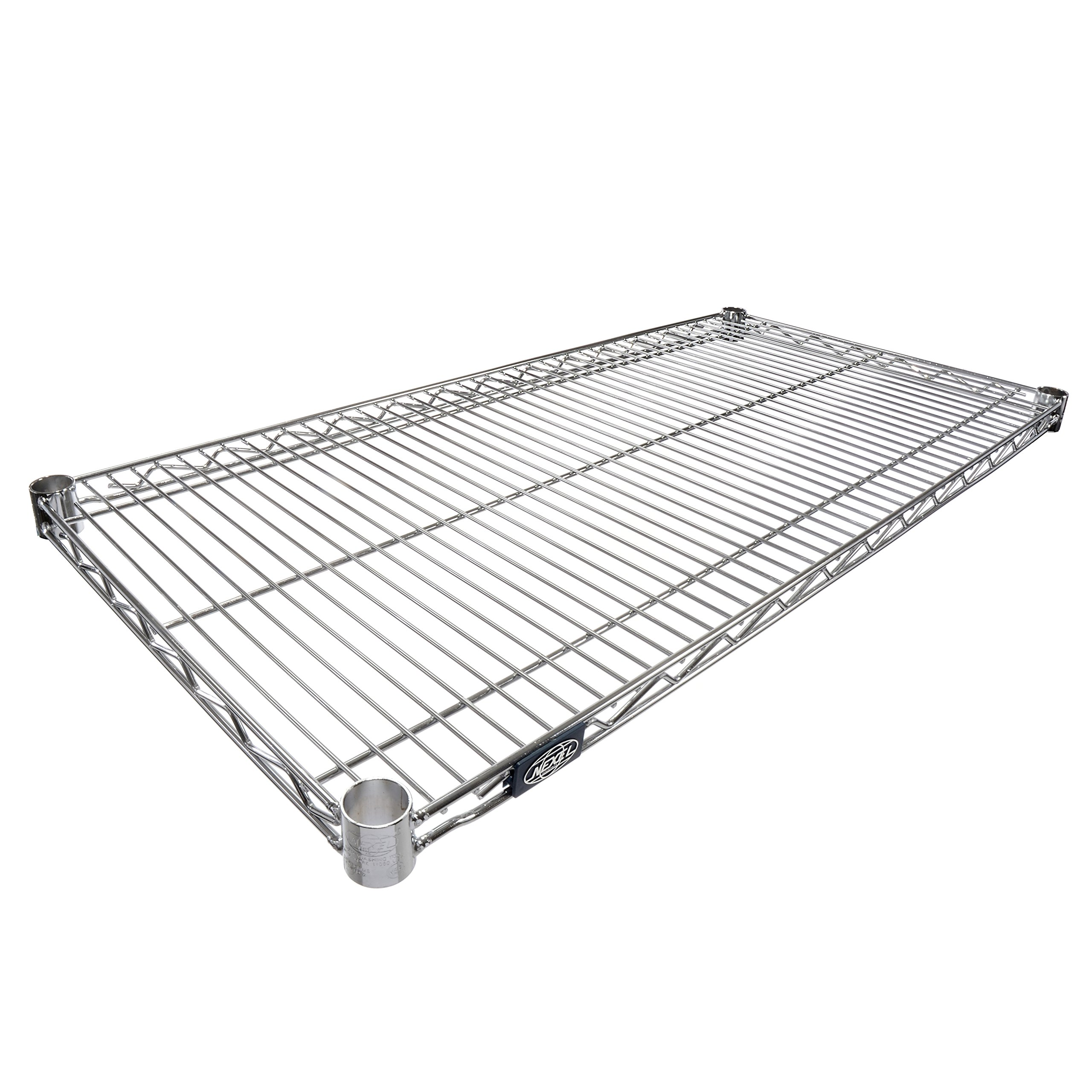 Nexel Wire Shelf, Chrome Finish, 18'' W x 36'' L