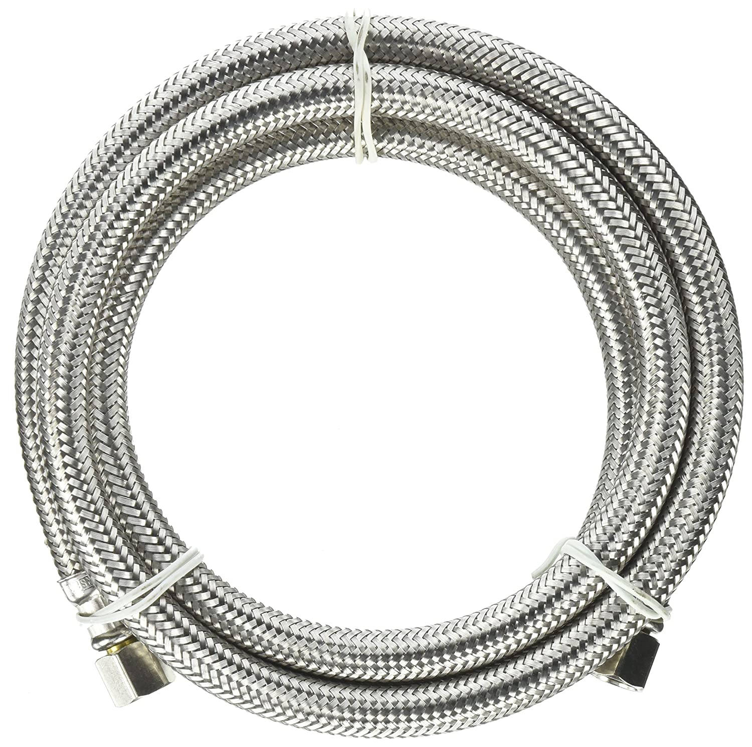 """Keeney PP25523 Plumb Pak Ice Maker Supply Line, 1/4 In, Compression, 60 In, Stainless Steel 1/4"""" x 60"""""""